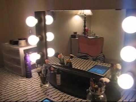 Vanity Lights Vanity Girl Hollywood : My Vanity Girl Hollywood Mirror! - YouTube
