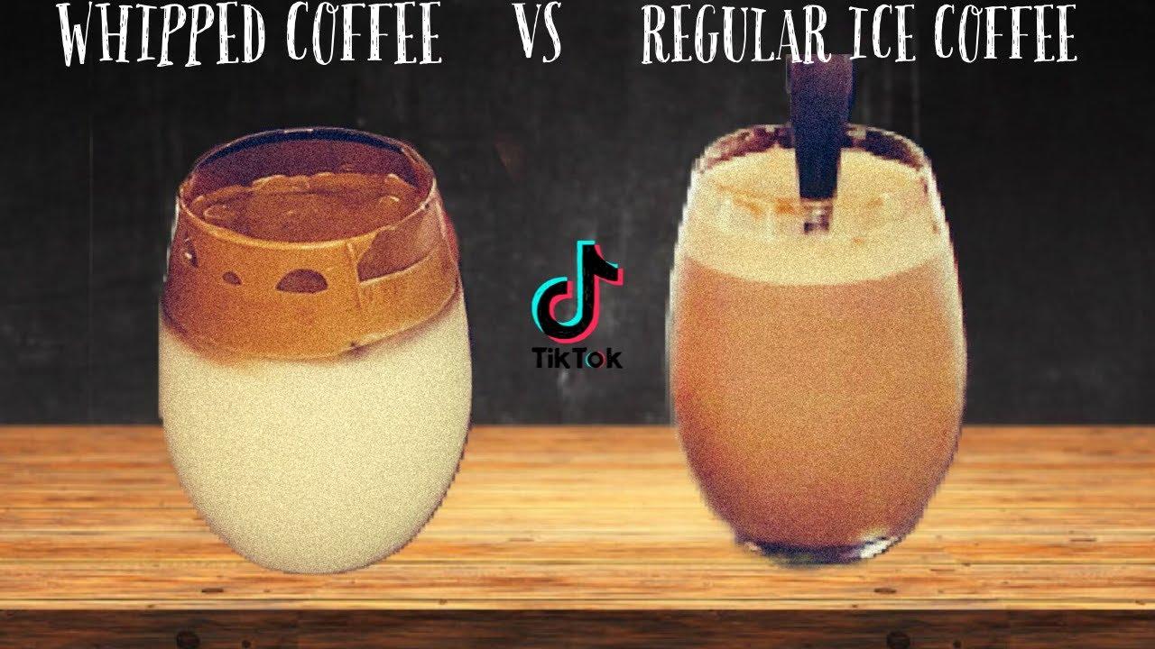 HOW TO MAKE TIKTOK WHIPPED COFFEE  3 INGREDIENT RECIPE ...
