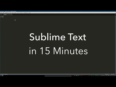 Sublime Text Basics: All the Best Features in One Videoиз YouTube · Длительность: 18 мин9 с