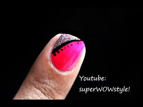short nails ♦ nail art for short nails  medium length