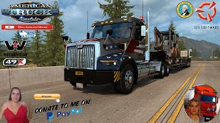 American Truck Simulator (1.39)   Western Star 49X Reworked [V1.2] by FierbetoN Bellingham to Forks SCS map Improvements v1.0.500 by n1cky1992 Washington DLC by SCS Team Reforma Sierra Nevada 2.2.28[Best Map][1.39] Mega Resources 2.1.18 Viva Mexico 2.0.8 Legacy by Hugoces Mexico Extremo 2.1.17 Trailer Jazzycat Chevy Step Van Pack AI Traffic v1.0 and Municipal Police Traffic Pack v1.0 FMOD ON and Open Windows Next-Gen Graphics USA New Summer Graphics/Weather V1.1 (1.38) by Grimes Test Gameplay ITA + DLC's & Mods V1.2: -improved glass on SB headlights -improved normals and UVs on SB hood -added bigger bumpers with optional bullbar -DEF tank size changes with fuel tank size -changed mudflaps texture -added new interior and steering wheel options -GPS tablet is now optional -minor interior details  -improved silver trim shape -toned down AO on dashboard panel -logos on brake buttons -lighter glass  v1.0.500 (equal like former v5.0.0): - 1.39 update - added 4 viewpoints which has been added by SCS in 1.39 update in the Bellingham and Everett area I haven't tested the map to compability with other maps yet but I think the list of compatible maps are still the same (because of noone new area has been added in 1.0.500): All maps excluding CanaDream So, feel free to use it if you want, share your opinions (or maybe bugs on map) in comments below.  For Donation and Support my Channel https://paypal.me/isabellavanelli?loc... #JoeBidenforPresident  SCS Software News Iberian Peninsula Spain and Portugal Map DLC Planner...2020 https://www.youtube.com/watch?v=NtKeP... Euro Truck Simulator 2 Iveco S-Way 2020 https://www.youtube.com/watch?v=980Xd... Euro Truck Simulator 2 MAN TGX 2020 v0.5 by HBB Store https://www.youtube.com/watch?v=HTd79...  #TruckAtHome #covid19italia Euro Truck Simulator 2    Road to the Black Sea (DLC)    Beyond the Baltic Sea (DLC)   Vive la France (DLC)    Scandinavia (DLC)    Bella Italia (DLC)   Special Transport (DLC)   Cargo Bundle (DLC)   Vive la France 