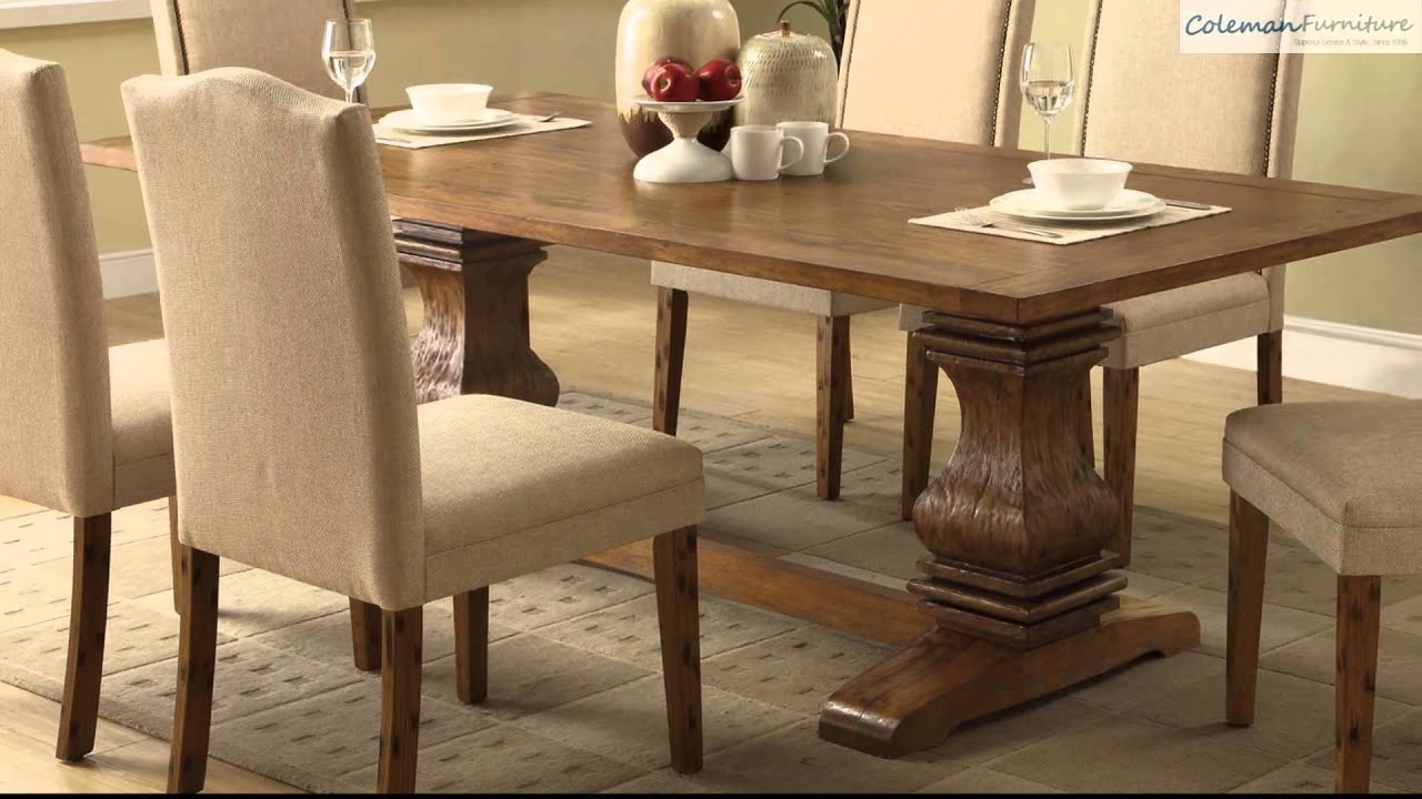 Parkins cappuccino rectangular dining room collection from for Dining room tables you tube