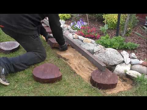 GARDEN (15) - Ogrodowe Inspiracje - Alejka z drewna i kruszywa