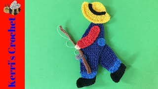Crochet Boy with a Fishing Rod Tutorial