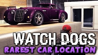 Watch Dogs - RAREST CAR LOCATION ! (Watch_Dogs Cars) - PS4/XBOX/PC !