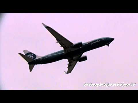 Alaska Airliner 'Spirit of Alaska' Boeing 737-890 [N512AS] Takeoff San Diego