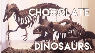 Chocolate Dinosaur Skeleton Sculptures