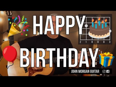 """how-to-play-""""happy-birthday""""-(guitar)"""