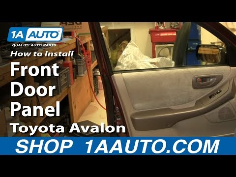 how to remove front door panel 98 99 toyota avalon youtube how to remove front door panel 98 99
