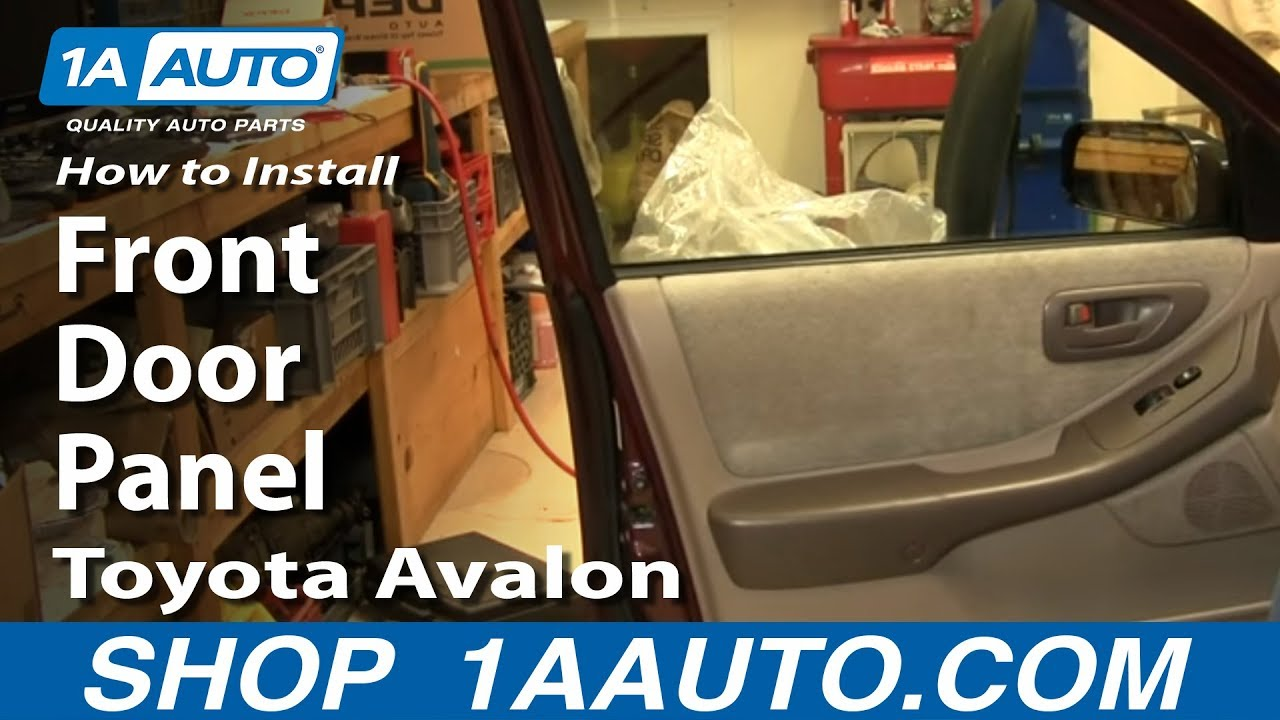 How To Remove Front Door Panel 98 99 Toyota Avalon 1a Auto