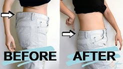 HOW TO EASILY & SEAMLESSLY DOWNSIZE THE WAIST OF YOUR JEANS