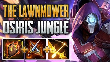 THE LAWNMOWER BUILD! Osiris Jungle Gameplay (SMITE Conquest)