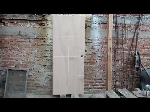 Carpinter a como hacer puerta principal moderna senci for Como hacer una puerta de tambor