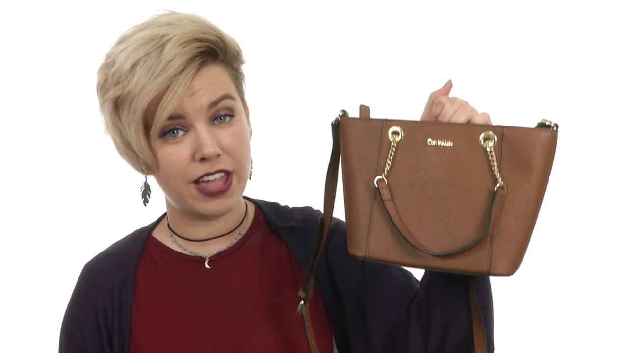 9ee6df67faaa Calvin Klein Saffiano Mini Bag SKU:8758678 - YouTube