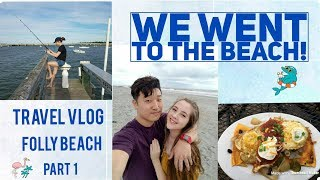 WE WENT TO THE BEACH!! | Travel Vlog | 폴리비취에 가다 | AMWF