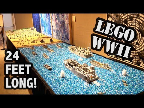 Massive LEGO WWII D-Day Omaha Beach by Brickmania