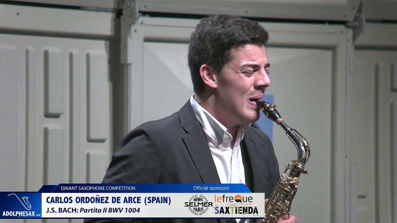 Carlos Ordoñez de Arce (Spain) -  Partita II BWV 1004 by J.S.Bach (Dinant 2019)