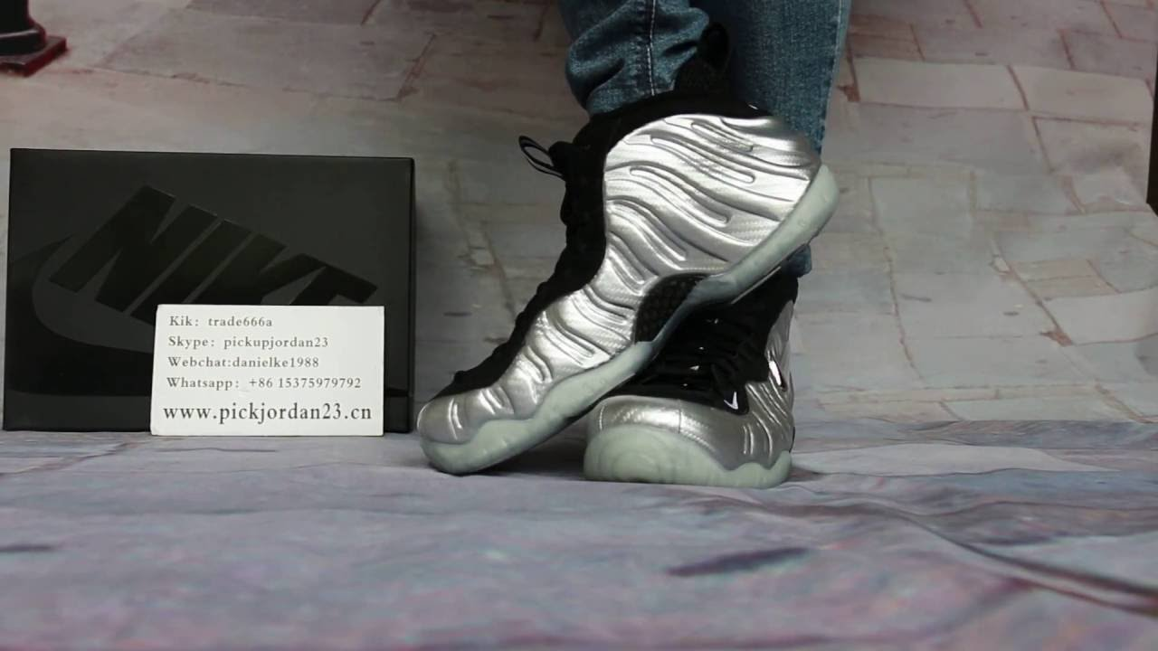 93587ac86cd0 Nike Air Foamposite Pro Silver Surfer On Foot HD Review - YouTube