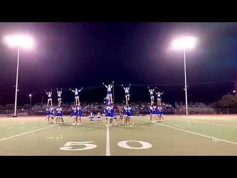Atwater High School 10/4/19 football game performance Varsity cheer 2019-2020
