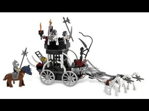 Lego Castle Skeletons Prison Carriage 7092 Review Youtube