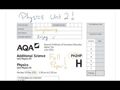 GCSE AQA Physics Unit 2 May 2014 PH2HP Full Paper