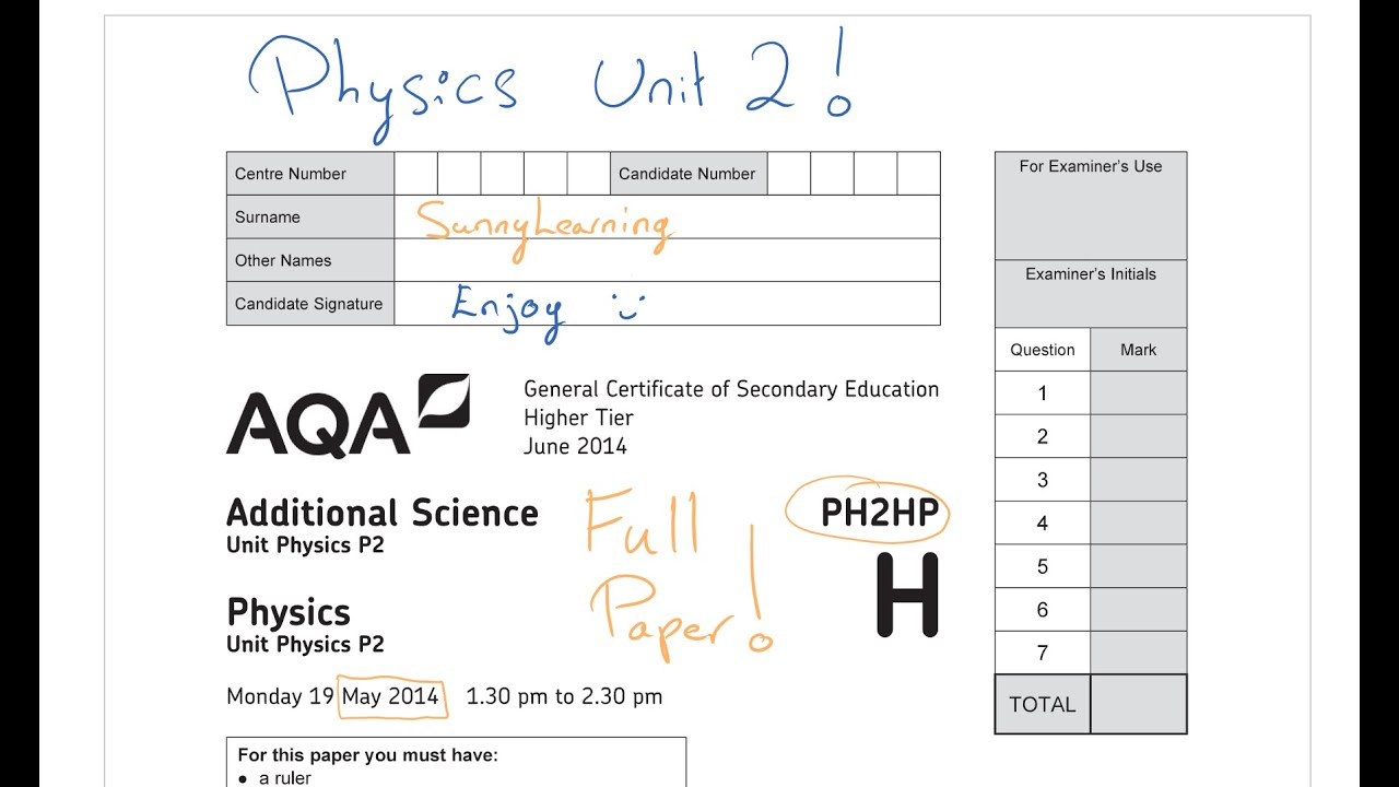 physics unit 2 past paper Content/availability if you need information on the content/availability of  materials please contact distribution team - tel: (028) 9026 1242.