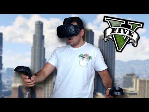 GTA V EN REALIDAD VIRTUAL !! OMG (HTC VIVE) - ElChurches