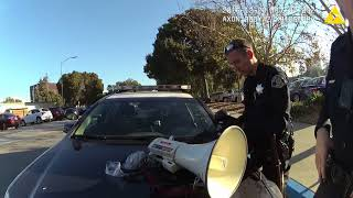 """Scott """"The Protester"""" Largent arrested by San Jose Police Department / 12.20.2016 / Chest Camera# 6"""