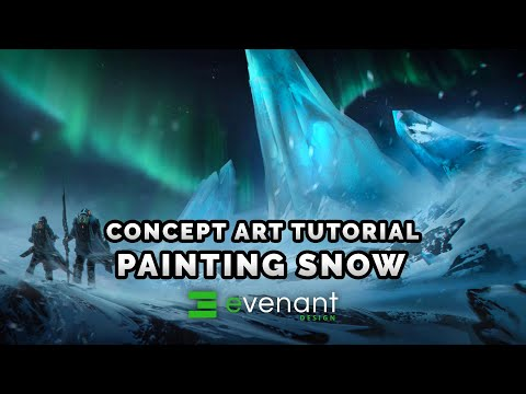 Painting Snow Tutorial - Digital Painting Basics - Concept Art