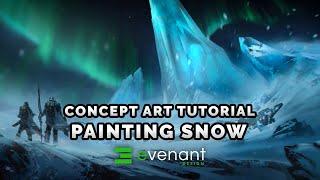 Painting Snow Tutorial - Digital Painting Basics - Concept Art