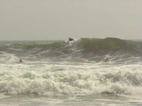 Va. Beach surfers ride the huge waves from Hurricane Bill