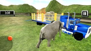 City Zoo Animal Transporter Truck - Elephant and Panda Transportation - Android Gameplay