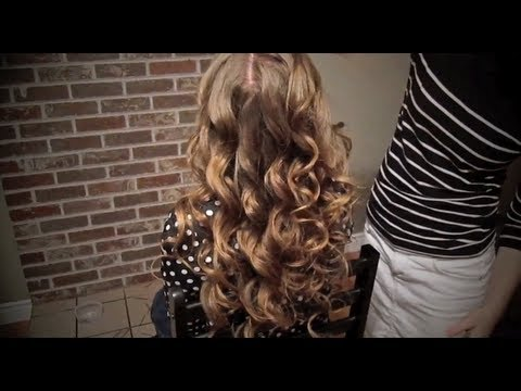 Soft Curls with Side French Braid - YouTube