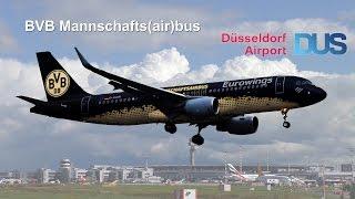 BVB Mannschaftsairbus  -  Eurowings A320 SL (D-AIZR) Borussia Dortmund Flughafen Düsseldorf Airport