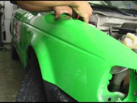 Pintando auto nissan tsuru 2005 salpicadera del coche de ...