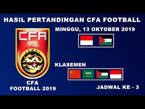 HASIL PERTANDINGAN TURNAMEN CFA INTERNATIONAL 2019 | HASIL PERTANDINGAN TIMNAS INDONESIA VS JORDAN