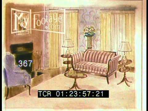 Stock Footage 48's Home Interior Design Selecting Patterns Magnificent 1950S Interior Design