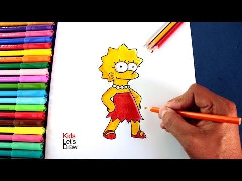 Cómo Dibujar A Lisa Simpson How To Draw Lisa Simpson