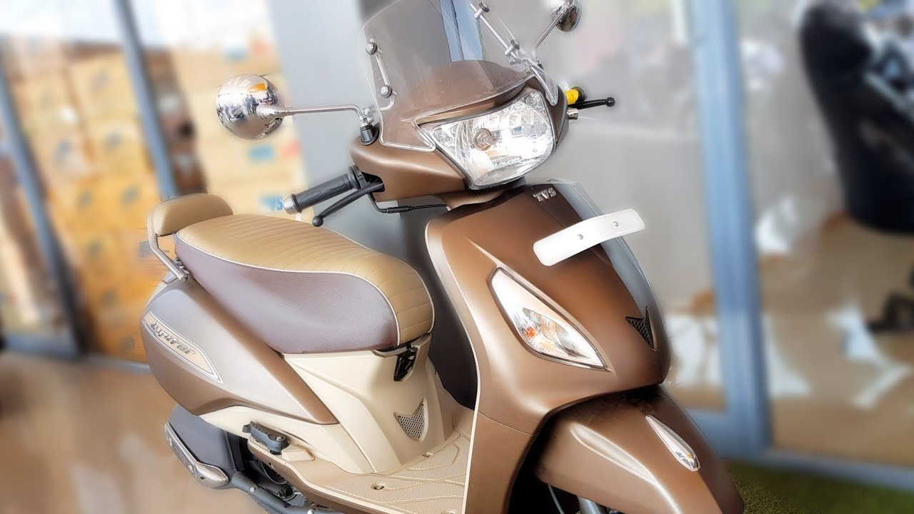 Tvs Jupiter Classic New Matte Brown Colour All Features Price