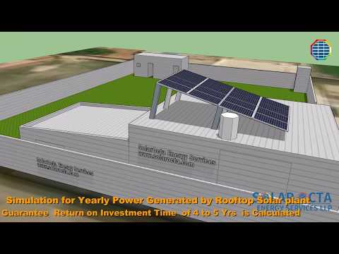 Solar PV Plant Installation of Rooftop - 3D design philosophy