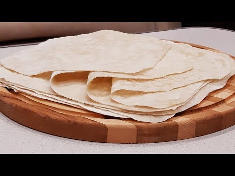 Тонкий армянский лаваш готовим дома без хлопот!Armenian Lavash!