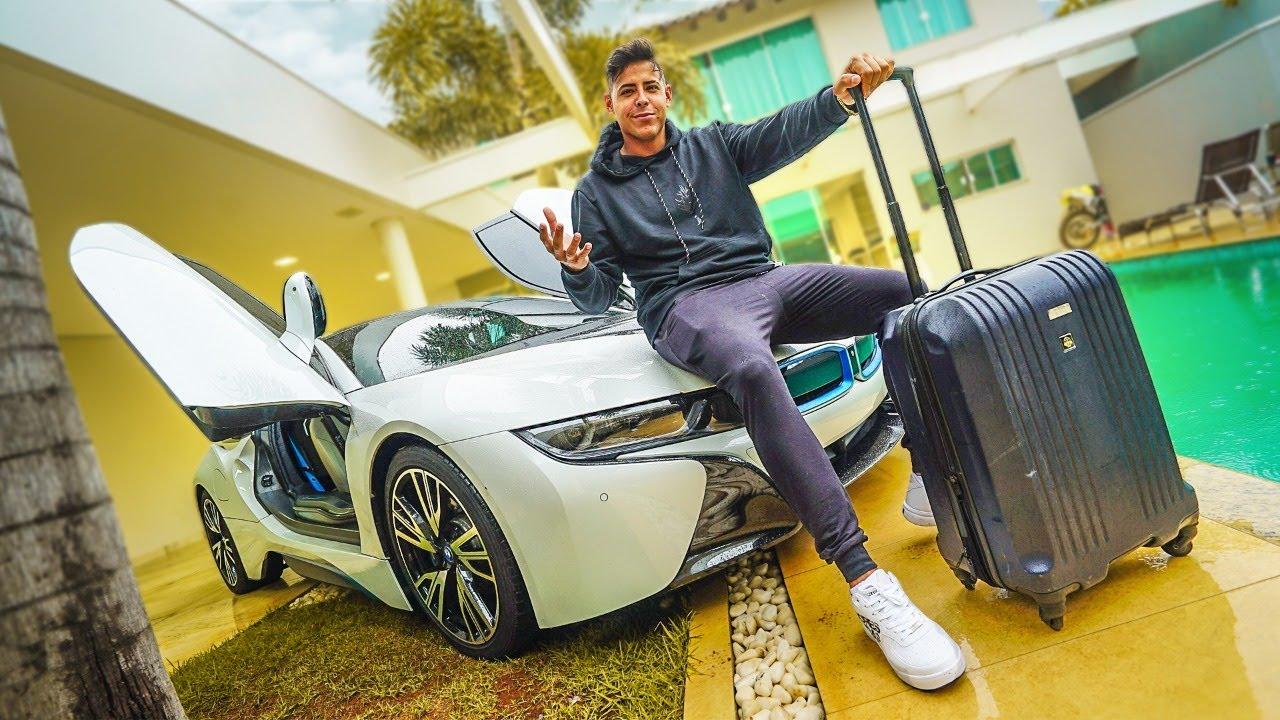 FUI PARA CASA DO LAGO COM MINHA NOVA BMW I8