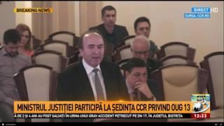 Ministrul Justiției participă la ședința CCR privind OUG13