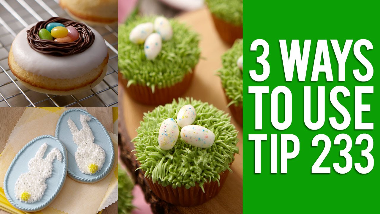 Cake Decorating Making Grass : How to Use the Grass Tip for Easter - YouTube