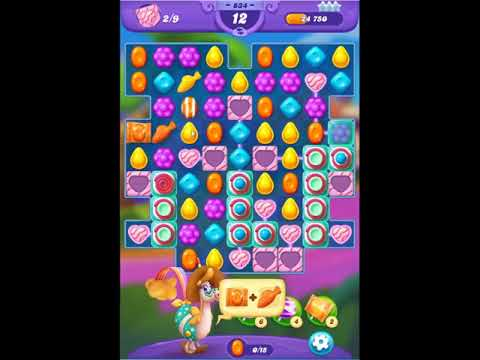 Candy Crush Friends Saga Level 834 - NO BOOSTERS 👩‍👧‍👦 | SKILLGAMING ✔️