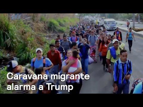 Donald Trump se alarma por caravana de migrantes en México - En Punto con Denise Maerker