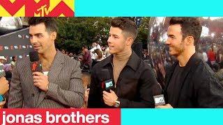 Jonas Brothers Talk VMAs Performance | 2019 Video Music Awards