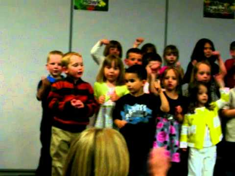 Avery Performing On Stage Mom S Night At Dyer Nursery School Pre K April 26th 2010