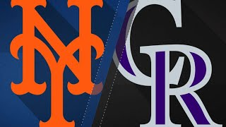 Nimmo's 2-HR, 4-hit game leads Mets over Rox: 6/18/18 thumbnail