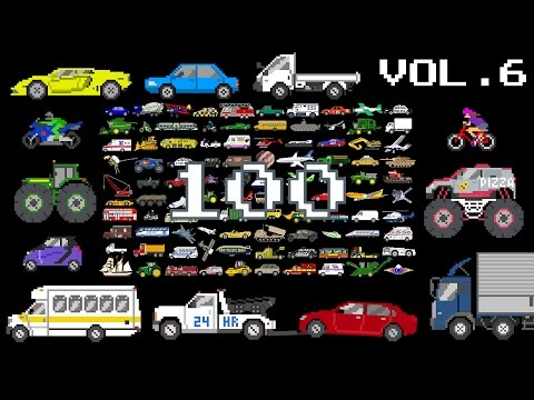 Vehicles Collection Volume 6 - Monster & Street Vehicles, Counting to 100 - The Kids' Picture Show